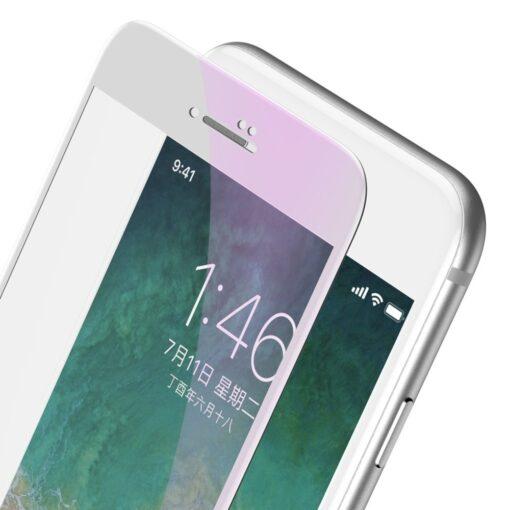 2tk iPhone SE 2020 87 kaitseklaas taisekraan sinise valguse kaitsega valge 1