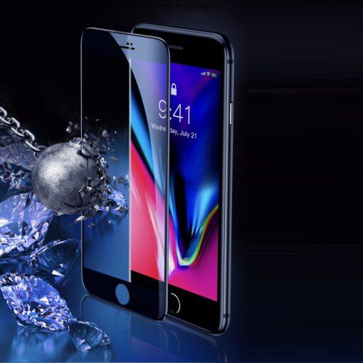 2tk iPhone SE 2020 87 kaitseklaas taisekraan sinise valguse kaitsega valge 10