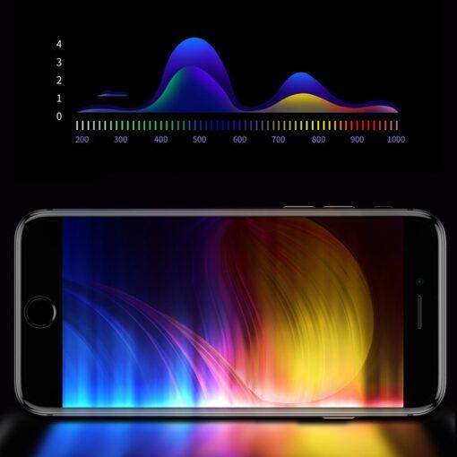 2tk iPhone SE 2020 87 kaitseklaas taisekraan sinise valguse kaitsega valge 13
