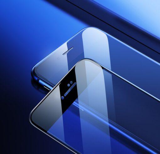 2tk iPhone SE 2020 87 kaitseklaas taisekraan sinise valguse kaitsega valge 17
