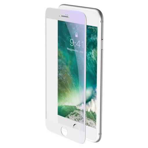 2tk iPhone SE 2020 87 kaitseklaas taisekraan sinise valguse kaitsega valge 2