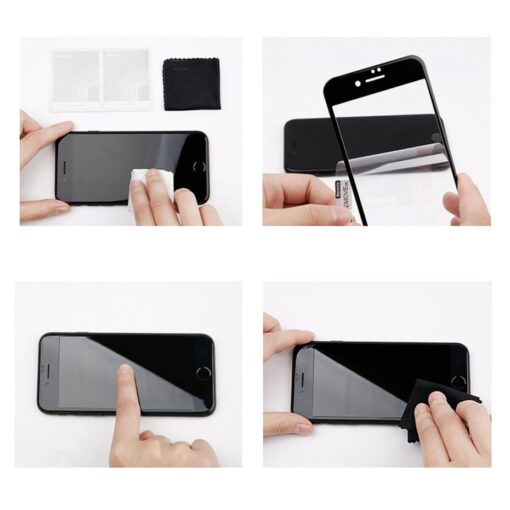 2tk iPhone SE 2020 87 kaitseklaas taisekraan sinise valguse kaitsega valge 20