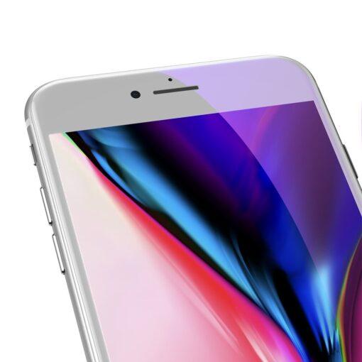 2tk iPhone SE 2020 87 kaitseklaas taisekraan sinise valguse kaitsega valge 4