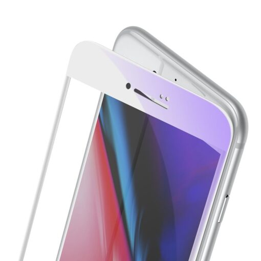 2tk iPhone SE 2020 87 kaitseklaas taisekraan sinise valguse kaitsega valge