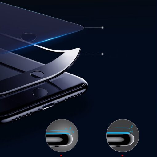 2tk iPhone SE 2020 87 kaitseklaas taisekraan sinise valguse kaitsega valge 8