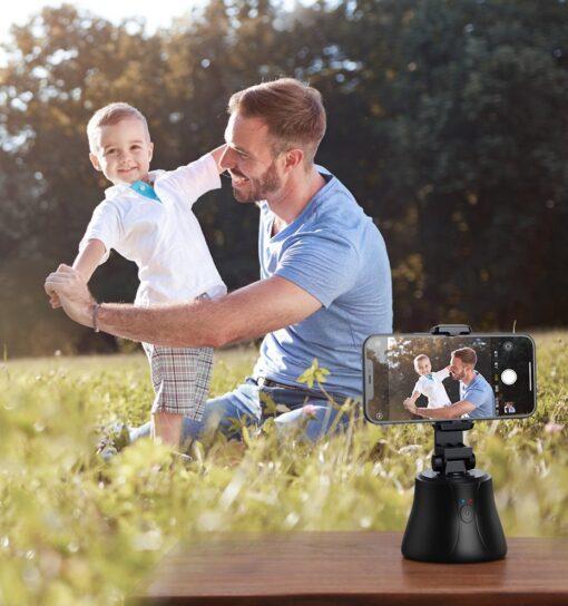 360 statiiv Baseus 360 rotation photo gimbal tripod portable phone holder for photos face tracking stabilizer YouTube TikTok must SUYT B01 11