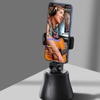 360 statiiv Baseus 360 rotation photo gimbal tripod portable phone holder for photos face tracking stabilizer YouTube TikTok must SUYT B01 12