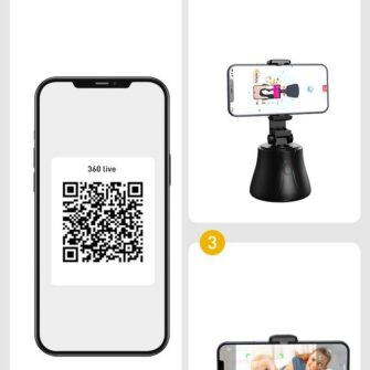 360 statiiv Baseus 360 rotation photo gimbal tripod portable phone holder for photos face tracking stabilizer YouTube TikTok must SUYT B01 19