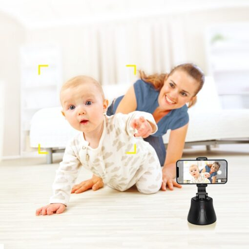 360 statiiv Baseus 360 rotation photo gimbal tripod portable phone holder for photos face tracking stabilizer YouTube TikTok must SUYT B01 3