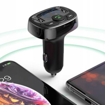 Bluetooth FM transmitter Baseus T Typed MP3 2x USB TF microSD 3.4A must CCTM 01 4
