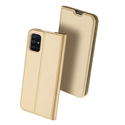 DUX DUCIS Skin Pro Bookcase type case for Samsung Galaxy A71 golden 1