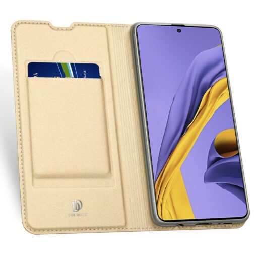DUX DUCIS Skin Pro Bookcase type case for Samsung Galaxy A71 golden 2