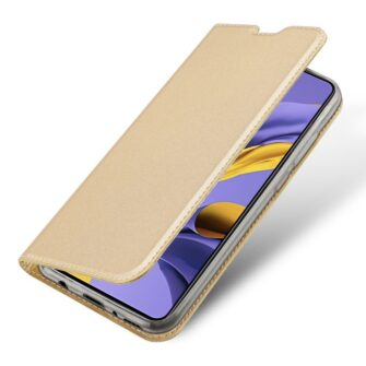 DUX DUCIS Skin Pro Bookcase type case for Samsung Galaxy A71 golden 3