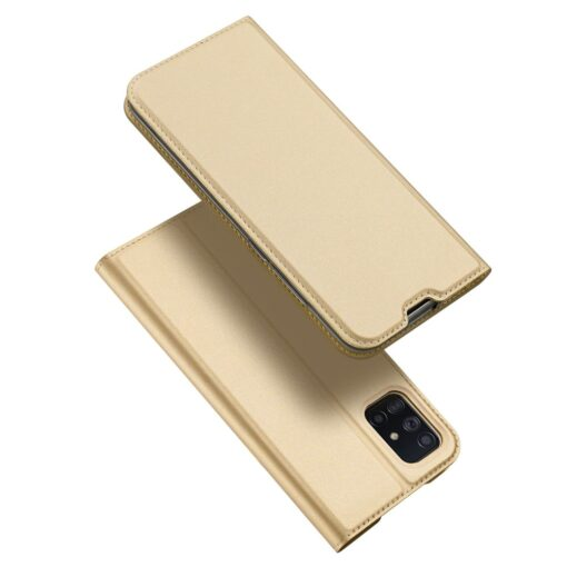 DUX DUCIS Skin Pro Bookcase type case for Samsung Galaxy A71 golden