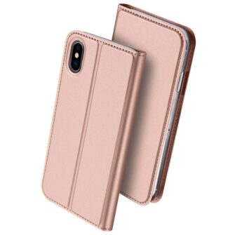 DUX DUCIS Skin Pro Bookcase type case for iPhone XS X pink 1