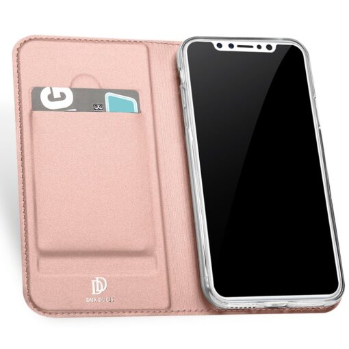 DUX DUCIS Skin Pro Bookcase type case for iPhone XS X pink 2