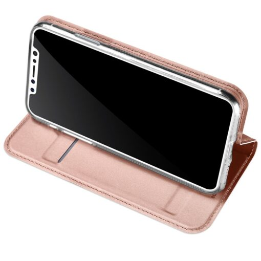 DUX DUCIS Skin Pro Bookcase type case for iPhone XS X pink 4