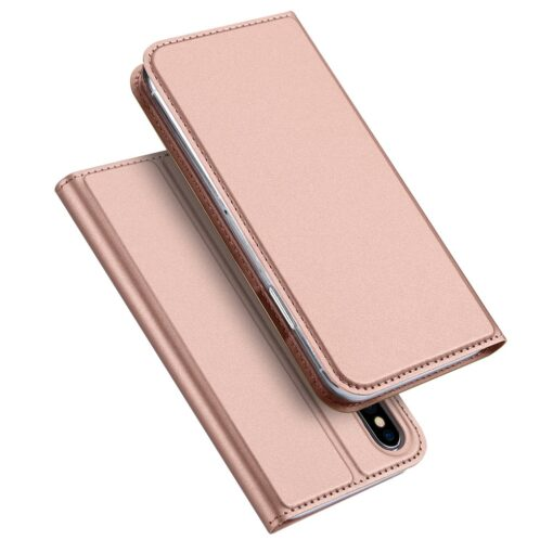 DUX DUCIS Skin Pro Bookcase type case for iPhone XS X pink