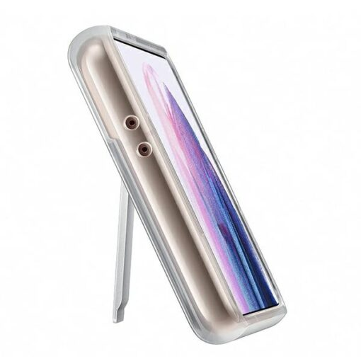 Kaaned Samsung Galaxy S21 EF JG991CT Transparent Clear Standing Cover 3