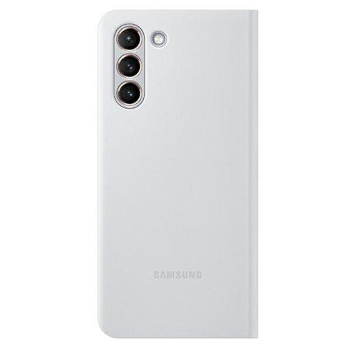 Kaaned Samsung Galaxy S21 EF NG991PJ light gray light gray LED View Cover 1