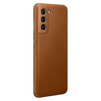 Kaaned Samsung Galaxy S21 EF VG991LA brown brown Leather Cover 1
