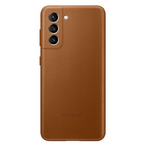 Kaaned Samsung Galaxy S21 EF VG991LA brown brown Leather Cover