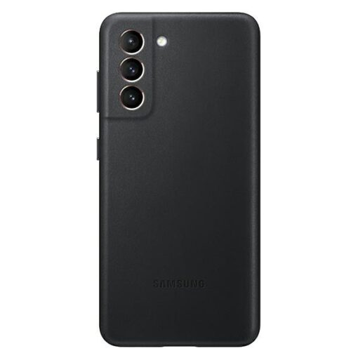 Kaaned Samsung Galaxy S21 EF VG991LB black black Leather Cover