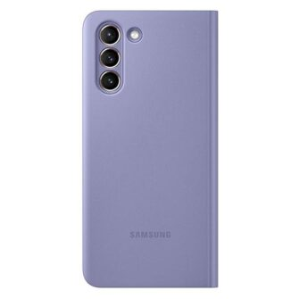 Kaaned Samsung Galaxy S21 EF ZG991CV purple violet Clear View Cover 2