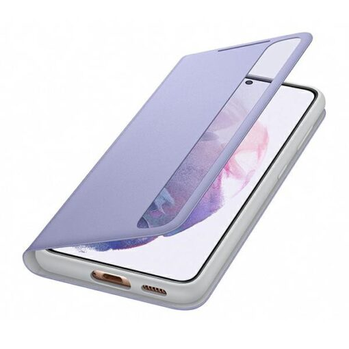 Kaaned Samsung Galaxy S21 EF ZG991CV purple violet Clear View Cover 4