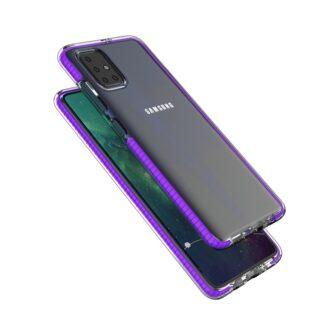 Samsung A51 umbris silikoonist heleroosa raamiga 2