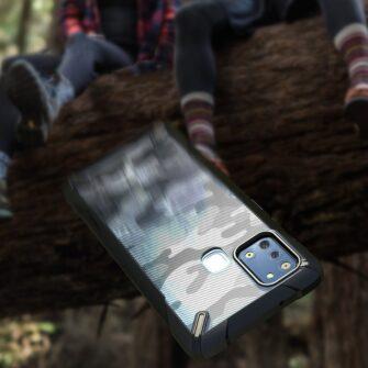 Samsung Galaxy A21S Ringke Fusion X tugev plastikust umbris silikoonist raamiga must XDSG0034 2