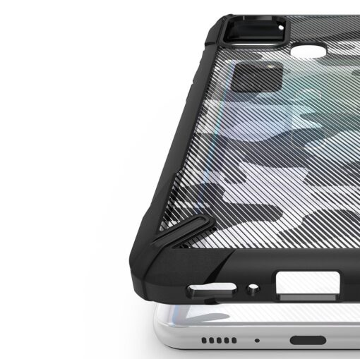 Samsung Galaxy A21S Ringke Fusion X tugev plastikust umbris silikoonist raamiga must XDSG0034 3