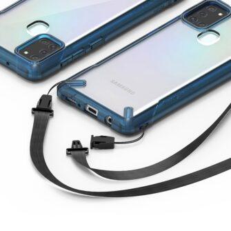 Samsung Galaxy A21S Ringke Fusion X tugev plastikust umbris silikoonist raamiga must XDSG0034 5