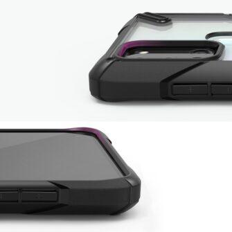 Samsung Galaxy A21S Ringke Fusion X tugev plastikust umbris silikoonist raamiga must XDSG0034 8