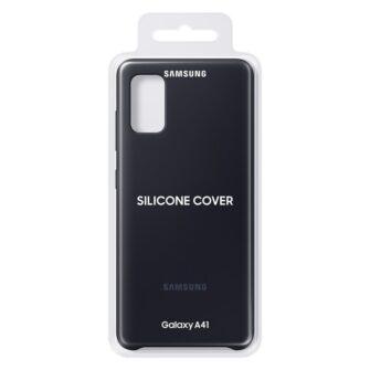 Samsung Galaxy A41 umbris Samsung Silicone Cover Flexible Gel must EF PA415TBEGEU 4