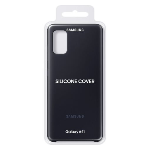 Samsung Galaxy A41 umbris Samsung Silicone Cover Flexible Gel must EF PA415TBEGEU 4