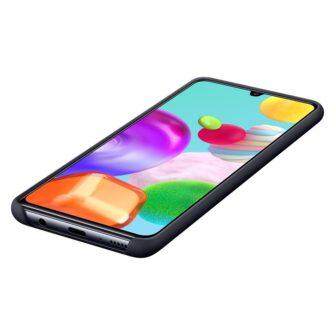 Samsung Galaxy A41 umbris Samsung Silicone Cover Flexible Gel must EF PA415TBEGEU 6