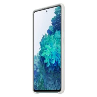 Samsung Galaxy S20 FE 5G kaaned Samsung Silicone Cover Flexible Gel Case white EF PG780TWEGEU 2