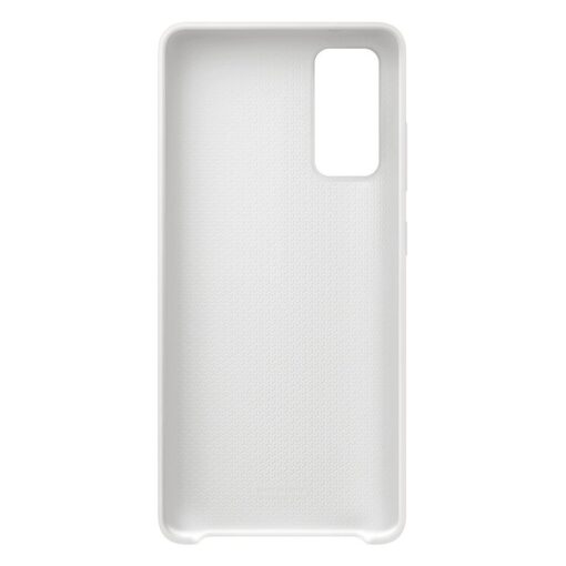 Samsung Galaxy S20 FE 5G kaaned Samsung Silicone Cover Flexible Gel Case white EF PG780TWEGEU 3