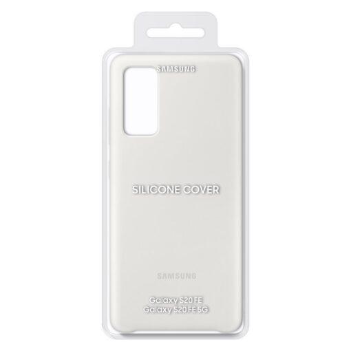 Samsung Galaxy S20 FE 5G kaaned Samsung Silicone Cover Flexible Gel Case white EF PG780TWEGEU 4