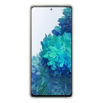 Samsung Galaxy S20 FE 5G kaaned Samsung Silicone Cover Flexible Gel Case white EF PG780TWEGEU 5
