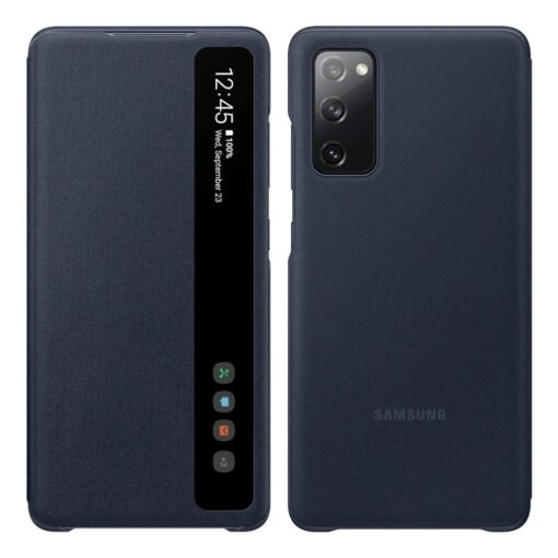 Samsung Galaxy S20 FE 5G kaaned Samsung Smart Clear View Standing Cover with Intelligent Display and antimicrobial coating EF ZG780CNEGEE