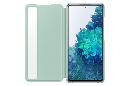 Samsung Galaxy S20 FE 5G kaaned Samsung Smart Clear View Standing Cover with Intelligent Display and antimicrobial coating mint EF ZG780CMEGEE 1