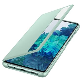 Samsung Galaxy S20 FE 5G kaaned Samsung Smart Clear View Standing Cover with Intelligent Display and antimicrobial coating mint EF ZG780CMEGEE 6