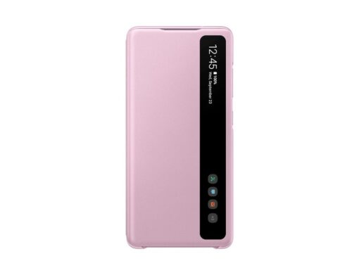 Samsung Galaxy S20 FE 5G kaaned Samsung Smart Clear View Standing Cover with Intelligent Display and antimicrobial coating pink EF ZG780CVEGEE 2
