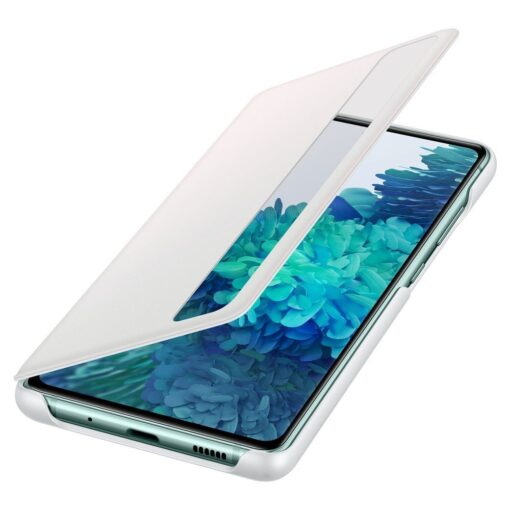 Samsung Galaxy S20 FE 5G kaaned Samsung Smart Clear View Standing Cover with Intelligent Display and antimicrobial coating white EF ZG780CWEGEE 2