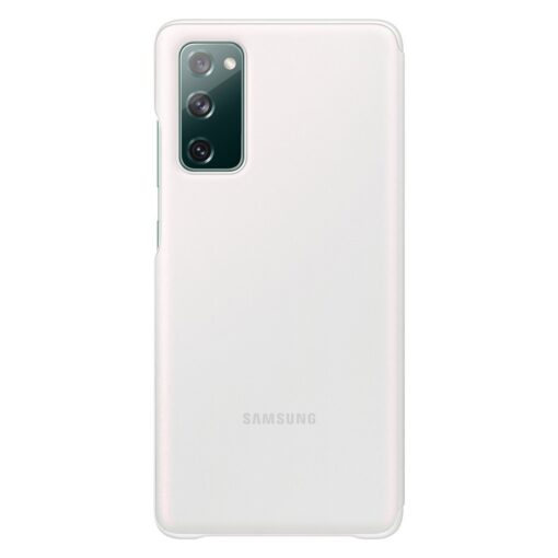 Samsung Galaxy S20 FE 5G kaaned Samsung Smart Clear View Standing Cover with Intelligent Display and antimicrobial coating white EF ZG780CWEGEE 5