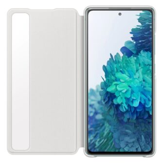 Samsung Galaxy S20 FE 5G kaaned Samsung Smart Clear View Standing Cover with Intelligent Display and antimicrobial coating white EF ZG780CWEGEE 8