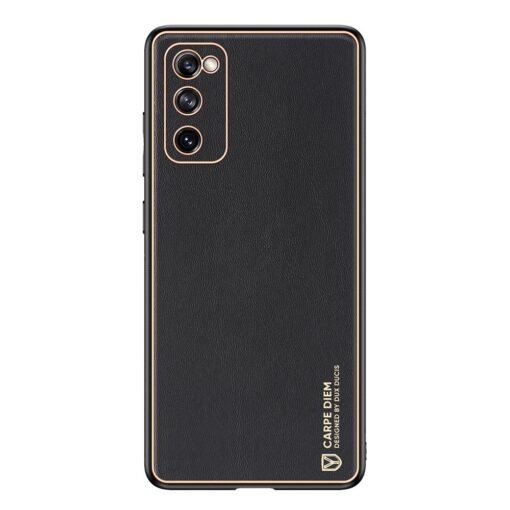 Samsung Galaxy S20 FE 5G umbris Dux Ducis Yolo elegant kunstnahast ja silikoonist servadega black 1