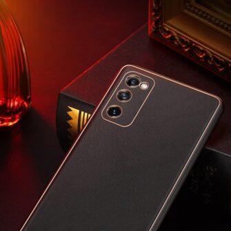 Samsung Galaxy S20 FE 5G umbris Dux Ducis Yolo elegant kunstnahast ja silikoonist servadega black 14